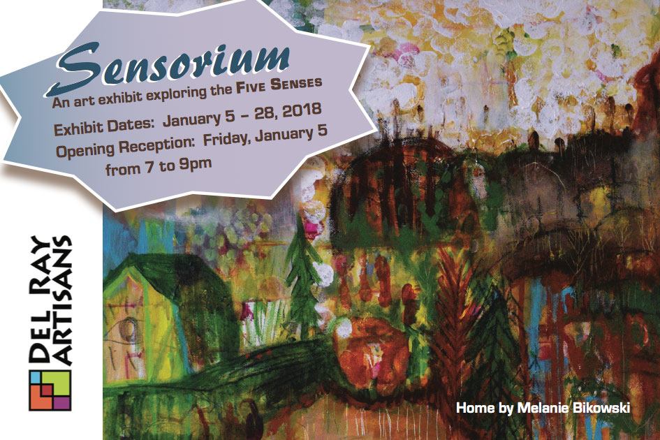 Sensorium art exhibit postcard