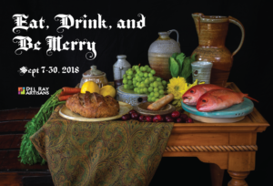 Eat, Drink, and Be Merry art exhibit postcard