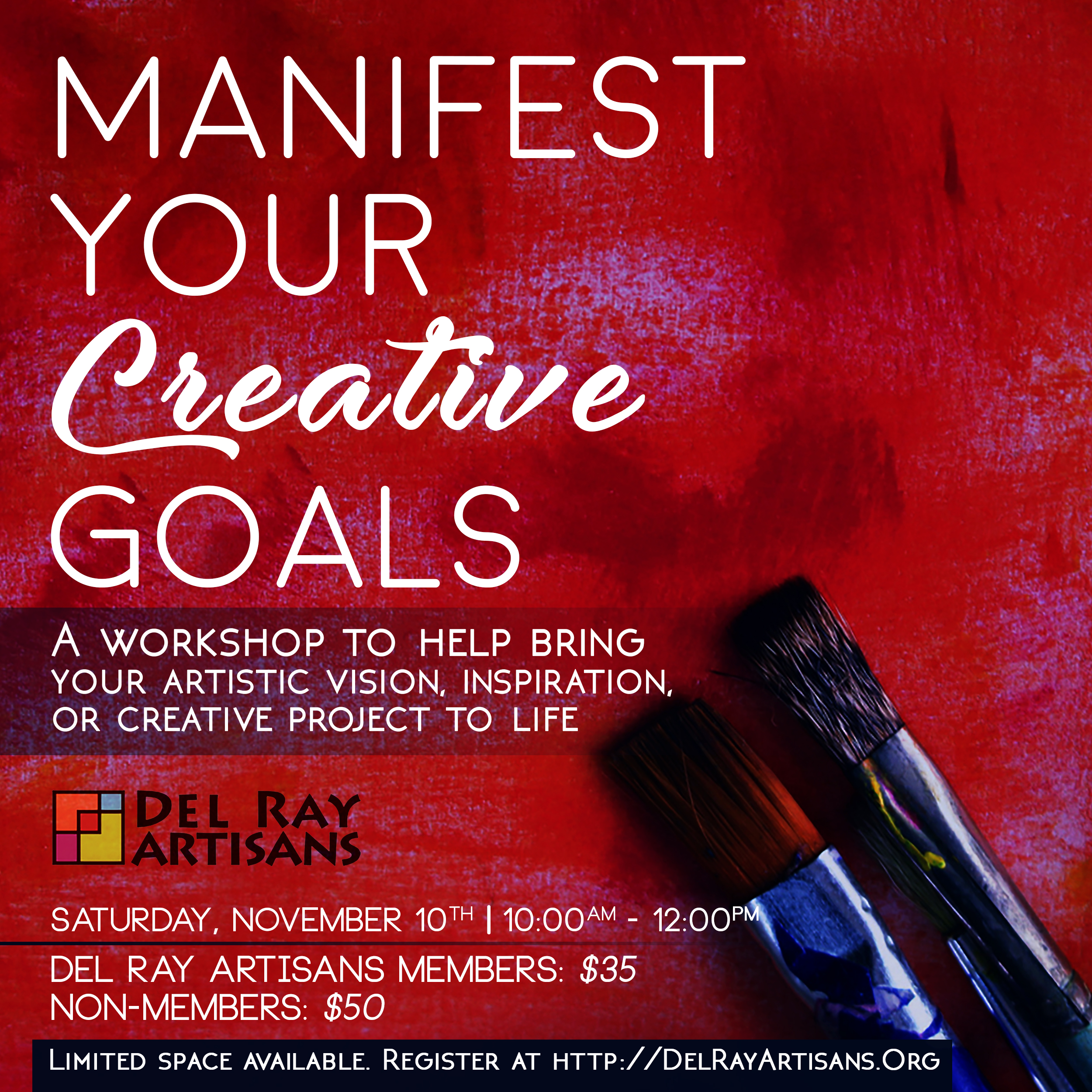 Canceled Manifest Your Creative Goals Del Ray Artisans